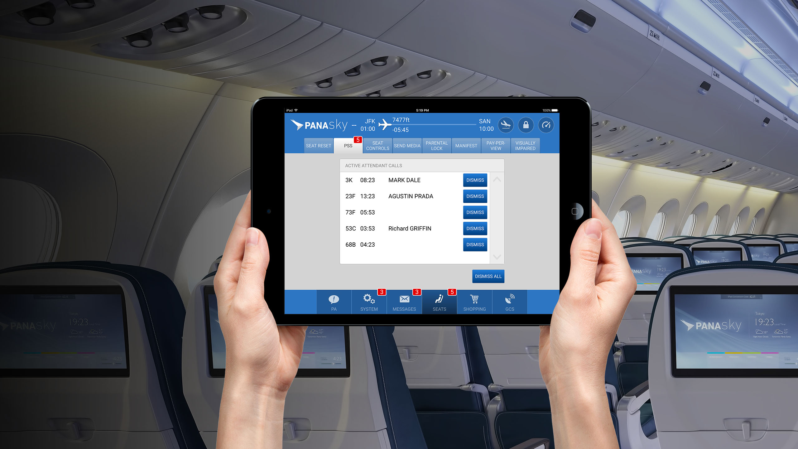 Four Innovations For Reducing In-Flight Entertainment Screen Touching
